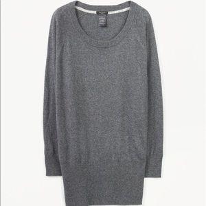 ARITZIA Cashmere Angora Scoop Sweater Tunic Grey M
